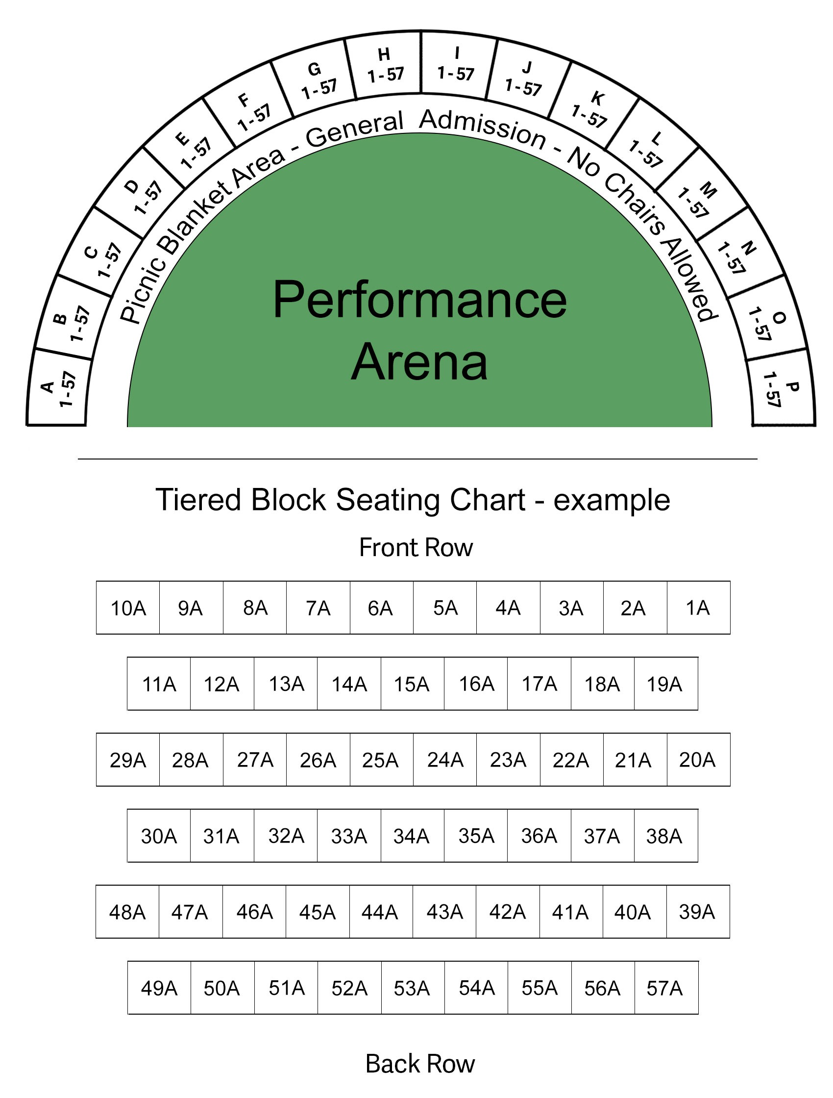 Seating Map for Stadium
